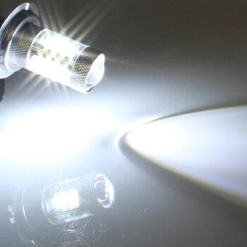 最新!!高品質!!15WLEDバルブ【H7】フォグランプ等に…12V/24V兼用無極性タイプホワイト発光1個