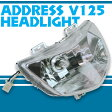 【あす楽対応】 スズキ アドレスV125/G CF46A/CF4EA 純正タイプ ヘッドライト ヘッドランプ パーツ SUZUKI ADDRESS