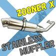 【あす楽対応】 ズーマーX JF52 オールステンレス カスタムマフラー パーツ ホンダ ZOOMERX 【ホンダ用 51cc〜125cc】