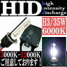 【あす楽対応】 35W HID H3 【6000k】 極薄型 防水 スリムバラストパーツ