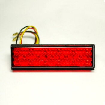 スクエア LED テールランプ 両面テープ貼り付け レッドレンズ メール便対応 パーツ