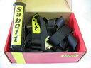 サベルト クラブマン75 ブラック 右 レーシングハーネス4点式シートベルト ショルダーパッド付き Sabelt CLUBMAN75