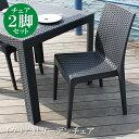 ガーデンチェア 2脚セット ガーデンチェアー ガーデン チェア チェアー イス 椅子 いす ガーデン ガーデンファニチャー リゾート 庭 屋外 野外 アウトドア...