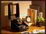 【あす楽対応】ワインディングマシーン 2本巻 ブラック × ブラック Abies(アビエス) マブチモーター 2連 ウォッチワインダー 腕時計 ワインディングマシン 自動巻き ウォッチケース ワインダー 時計ケース クリスマス ギフト ウォッチスタンド ディスプレイ