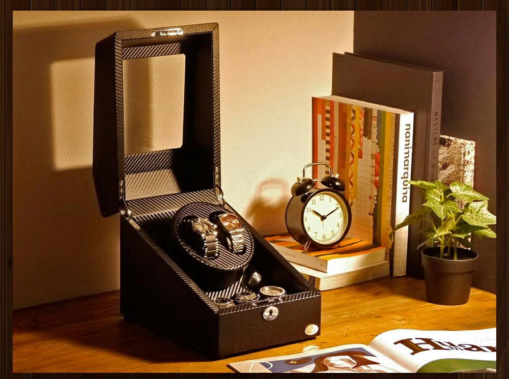 【あす楽対応】ワインディングマシーン 2本巻 カーボン調 限定仕様 Abies(アビエス) ワインディングマシン マブチモーター 2連 ウォッチワインダー 腕時計 自動巻き ワインダー プレゼント ウォッチケース 時計ケース クリスマス ギフト ウォッチスタンド ディスプレイ