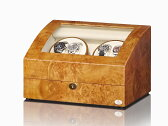 【入荷待ちご予約品】ワインディングマシーン 4本巻 ライトブラウン Abies(アビエス) ウォッチワインダー マブチモーター ワインダー 4連 腕時計 自動巻き ワインディングマシン ウォッチケース 時計ケース 05P02Mar14