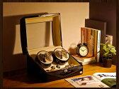 ワインディングマシーン 4本巻 ブラック Abies(アビエス) ウォッチワインダー ワインディングマシン マブチモーター 父の日 プレゼント 4連 腕時計 自動巻き ウォッチケース 時計ケース ワインダー