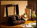 ワインディングマシーン 4本巻 ゼブラウッド × ブラック Abies(アビエス) ウォッチワインダー マブチモーター 4連 腕時計 ワインディングマシン 自動巻き ウォッチケース 時計ケース ワインダー クリスマス ギフト ウォッチスタンド ディスプレイ