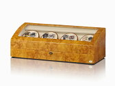 【あす楽対応】ワインディングマシーン 8本巻 ライトブラウン Abies(アビエス) ウォッチワインダー マブチモーター ワインディングマシン 8連 腕時計 自動巻き ウォッチケース 時計ケース ワインダー
