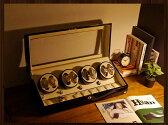 ワインディングマシーン 8本巻 ブラック Abies(アビエス) ウォッチワインダー マブチモーター 8連 腕時計 自動巻き ウォッチケース ワインディングマシン 時計ケース ワインダー