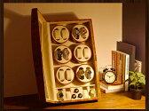 ワインディングマシーン 12本巻 薄茶 ライトブラウン Abies(アビエス) ウォッチワインダー マブチモーター 12連 腕時計 自動巻き ワインディングマシン ウォッチケース 時計ケース 父の日 プレゼントワインダー