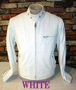 本革レザーライダース シングルCOW-SKIN 白WHITE-Lサイズ