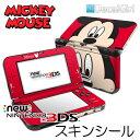 【在庫有り】【ゆうパケット対応】decalgirlディズニー ミッキーマウス スキンシール NEW 3DS/3DSLL&3DS/3DSLL用 《ミッキーフェイス》2015年新型 ニンテンドー 3DS/3DSLLカバー ケース デコシール