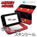 【在庫有り】【ゆうパケット対応】decalgirlディズニー ミッキーマウス スキンシール NEW 3DS/3DSLL&3DS/3DSLL用 《ミッキートラウザーズ》2015年新型 ニンテンドー 3DS/3DSLLカバー ケース デコシール