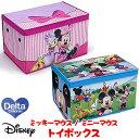 【在庫有り】デルタ ディズニー ミッキーマウス / ミニーマウス トイボックス ふた付き フタ付き おもちゃ箱 子供部屋 お片付け 収納 子ども こども ボックス 絵本 キャラクター 折りたたみ収納可能 Delta Disney Mickey Mouse / Minnie Mouse Toy Box