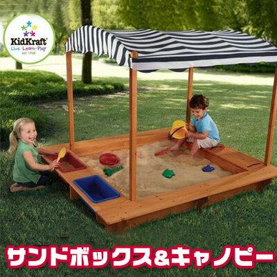 在庫有り大型遊具送料無料木のおもちゃキッドクラフトアウトドアサンドボックス&キャノピーKidKraf