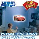 【在庫有り】アンクルミルトン ウォールフレンズ ライトニング・マックィーン トーキング ルームライト ディズニーカーズ 子供部屋 ナイトライト 壁掛け照明 リモコン付き Uncle Milton Wall Friends Lightning McQueen, Talking Room Light