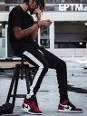 EPTM エピトミ パンツ トラックパンツ メンズ レディース ユニセックス BLACK/WHITE TECHNO TRACK PANTS ジャージー ジャージ ロングパンツ サイドライン アメリカ製 Made in USA ボトムス EP7587 夏休み ギフト プレゼント ラッピング