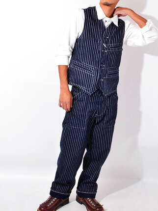 SUGARCANE,���奬��������,�����Хå���,���ȥ饤��,���,�٥���,Wabash,Stripe,Work,Vest,Men,Japan