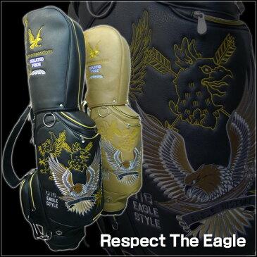 【送料無料】リスペクト ザ イーグル/RESPECT THE EAGLE カートキャディバッグ CBEG-003【あす楽/オリジナル/PVC】