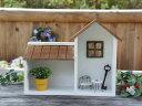 *壁掛×卓上 可愛いウォールハウス 木製飾り棚 お家型ディスプレイラック