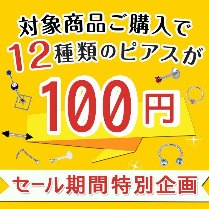 ボディピアス 20G 18G 16G 14G 対象商品ご購入で100円 ワンコイン100円