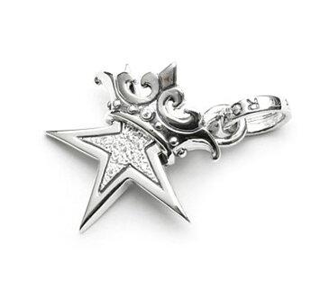 【ロイヤルオーダー ペンダント】SMALL STAR w CROWN w Paved CZ 【ROYAL ORDER】