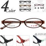 【メガネ 度付き】 a/p lab AL1123-52 鼻パッド付 ドット柄 【メガネ】【眼鏡】【眼鏡 度付き】【TR90】【グリルアミド】【メガネ通販】