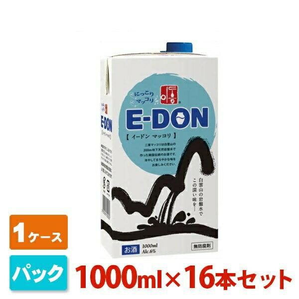 イードン マッコリ パック 6度 1000ml×16パック(1ケース) E-DON リキュール