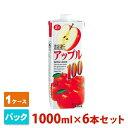 ショッピング野菜 ジューシー アップル 100 パック 1000ml 6本セット JA熊本 フルーツジュース 1ケース
