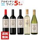 アルゼンチンワイン ブドウ品種 飲み比べ 5本セット 赤ワイン 白ワイン