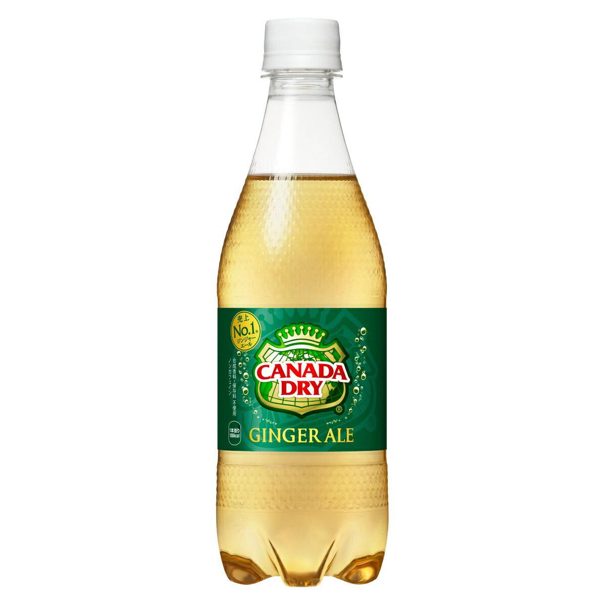 1ケースコカ・コーラカナダドライジンジャーエール500mLPET飲料飲み物ソフトドリンクペットボトル