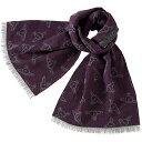 ショッピングウール ヴィヴィアンウエストウッド Vivienne Westwood ランダムORB メンズマフラー パープル系+グレー系 紫 灰