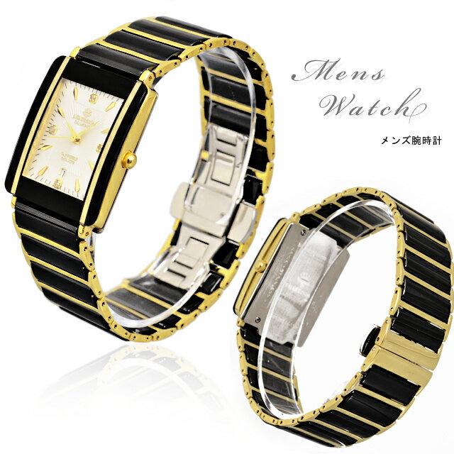 腕時計 メンズ 紳士用 ジョンハリソン John Harrison ブラック ゴールド ダイヤモンド ブランド 時計 うでどけい 金属ベルト WATCH メンズ 腕時計 メンズ腕時計 時計 とけい 腕時計 うでどけい ウォッチ watch