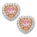 ショッピングスキー スワロフスキー SWAROVSKI ピアス アクセサリー 5446995 ワン スタッド ピアス マルチカラー One Stud Pierced Earrings Multi coloured ハート ローズゴールド+クリスタル