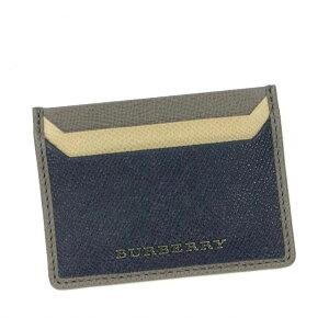 バーバリー 名刺入れ カードケース レディース メンズ ブランド 人気 チェック BURBERRY 牛革 レザー カーフ 定期入れ