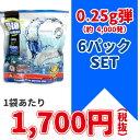 6パックセット★G&G 6mm バイオ BB弾 ホワイト 0.25g弾 1kg入り [約4,000発]