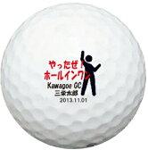 【ボールは別売りです。名入れ対応ゴルフボールと一緒にご注文ください】【名入れオプション デザインテンプレート】やったぜ!ホールインワン デザイン  名前入りギフト ホールインワン 記念品 父の日 還暦祝 誕生日プレゼント 退職記念
