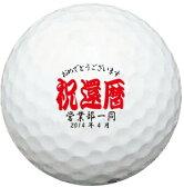 【ボールは別売りです。名入れ対応ゴルフボールと一緒にご注文ください】【名入れオプション デザインテンプレート】祝還暦 還暦祝い デザイン  スピード納品 名前入りギフト コンペ賞品 景品 ホールインワン 記念品 父の日 還暦祝 誕生日プレゼント 退職記念