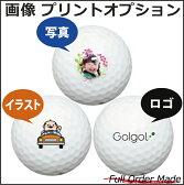【ボールは別売りです。名入れ対応ゴルフボールと一緒にご注文ください】【写真・画像・ロゴ印刷オプション】ゴルフボールに写真や画像・ロゴをお入れします 名前入りギフト コンペ賞品 景品 ホールインワン 記念品 還暦祝 誕生日プレゼント 退職記念