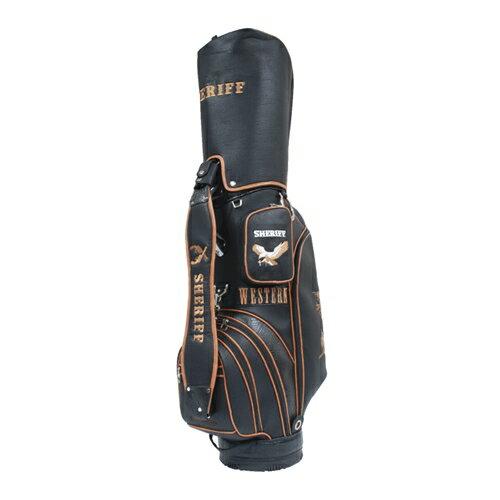 【シェリフ/SHERIFF】ゴルフ 9.0型キャディバッグ SFW-007 ウエスタン ツアーカート CB BLACK 黒 ブラック【TP】 大人気のウェスタンシリーズ