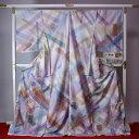 あす楽対応【送料無料】 牛首紬 三里が伝えた粋 白山工房手織 最高級のお洒落訪問着 現代風デザイン/多色ぼかし
