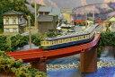 「送料込」鉄道模型ジオラマレイアウトNゲージ用 単線[120cm×60cm]渓谷の町●注文製作●120x60?6