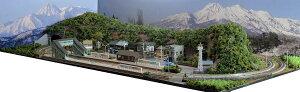 「送料込み」鉄道模型ジオラマレイアウトNゲージ用 複線[120cm×60cm]昭和の旧国の駅前風景●注文製作●120x60?16