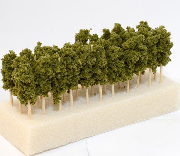 鉄道模型Nゲージ用レイアウト用樹木 【緑褐色】 1本●注文製作●