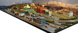 「送料込み」鉄道模型ジオラマレイアウトNゲージ用 複線[150cm90cm]現代風景と4線ヤード●注文製作●150x90?2