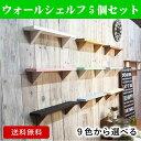 【送料無料】9色から選べる5個セット/ウォールシェルフ (ナ...
