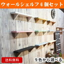 【送料無料】9色から選べる6個セット/ウォールシェルフ (ナ...