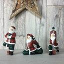 ヨガ サンタ 全3種◆ガーデン マスコット◆ナチュラル雑貨◆ガ-デン マスコット ◆ガーデニング◆Natural◆クリスマスマスコット