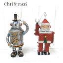 ロボットサンタ ロボットスノーマン/レジン クリスマスオーナメント/アメ雑 レトロ ブリキのおもちゃ風 マスコット